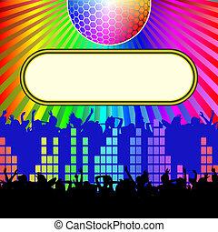 hintergrund, disko