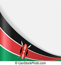 hintergrund., fahne, vektor, kenianer, illustration.