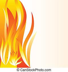 hintergrund., flamme