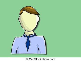 hintergrund, grün, illustration geschäft, mann