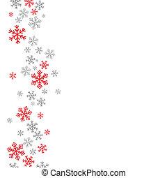 hintergrund, grau, rotes , schnee