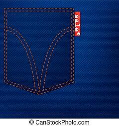 hintergrund., jeans