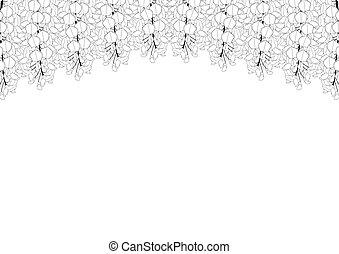 hintergrund, kopieren platz, wisteria