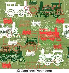 hintergrund, locomotives., seamless, dampf