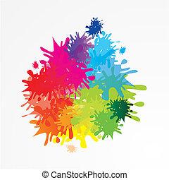 Hintergrund mit Farbklecksen und Te - Hintergrund mit...