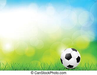 hintergrund, mit, fußball ball