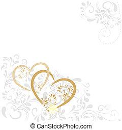 Hintergrund mit Ornamenten in gold und silber