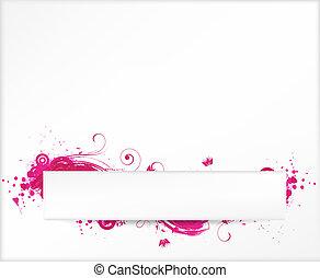 hintergrund, mit, rosa, grunge, elemente