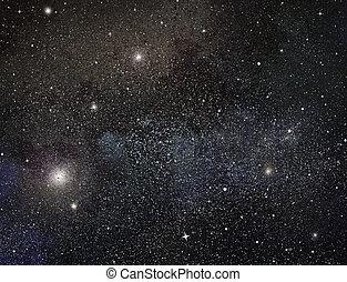 hintergrund, nacht, sternen, himmelsgewölbe