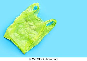 hintergrund., säcke, blaues, plastik, bunte