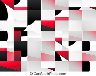 hintergrund, schwarz, abstrakt, rotes