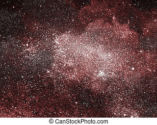 hintergrund, sternen, himmelsgewölbe, nacht