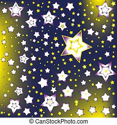 hintergrund, sternen, in, der, nacht himmel