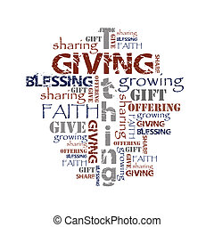hintergrund, tithing, geben