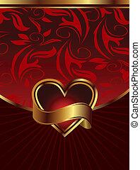 hintergrund, valentines, verpackung, design, heilige, tag