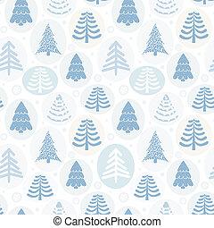 hintergrund, vektor, bäume, weihnachten, abbildung
