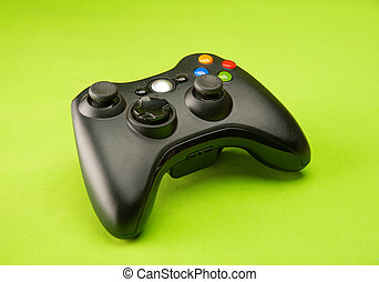 hintergrund, video, grün, spiel, unterstützt, steuerung, oberfläche, fokus., wahlweise