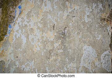 hintergrund, von, a, befleckt, grungy, graue , zement, wand