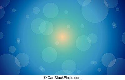 hintergrund, von, blaues licht, abstrakt