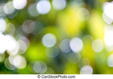 hintergrund, von, grün, bokeh