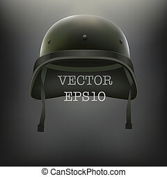 hintergrund, von, militaer, grün, helm, vektor