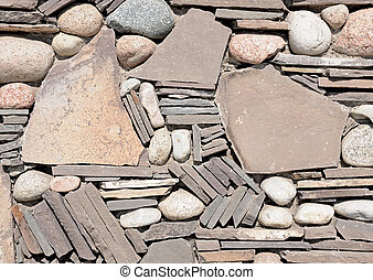 hintergrund, von, steinmauer, beschaffenheit, foto