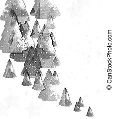 hintergrund, von, weihnachtsbäume