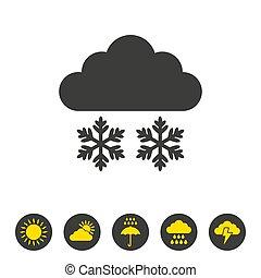 hintergrund., weißer schnee, ikone
