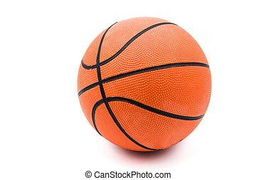 hintergrund., weißes, basketball, freigestellt