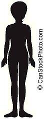 hintergrund, weißes, silhouette, menschlicher körper