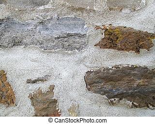 hintergrund, weinlese, steinmauer