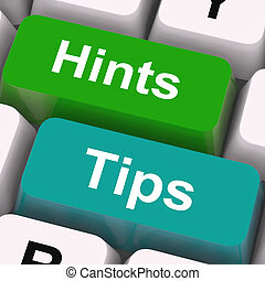 Hints Tips Keys Mean Guidance And Advice - Hints Tips Keys...