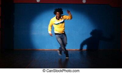 Hip-hop dancer - African American man dancing hip-hop