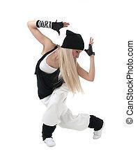 Hip hop dancer - Female hip hop dancer in motion