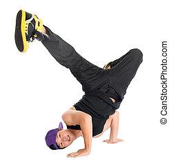 hip hop dancer - Full body cool looking Asian teen dance hip...