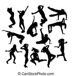 Hip Hop Dancer Set Silhouette