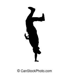 Hip Hop Dancer Silhouette