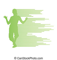 Hip hop dancer silhouette vector background concept made of...