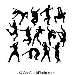 Hip Hop Dancer Silhouettes