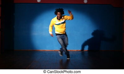 Hip-hop dancer - African American man dancing hip-hop
