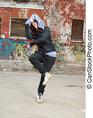 Hip hop female performing and act over