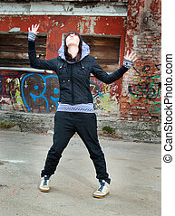 Hip hop female performing and act