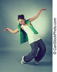 Hip hop female performing