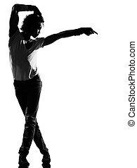 hip hop funk dancer dancing man - full length silhouette of...