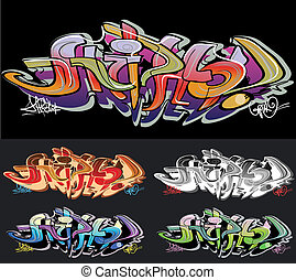 Hip-hop graffiti urban art