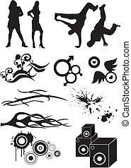 Hip Hop graphic icon - Stock Vector Illustration: Hip hop ...