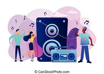 Hip-hop music concept vector illustration.
