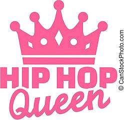 Hip hop queen with crown