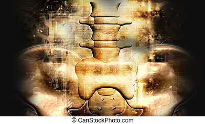 hip in abstract background