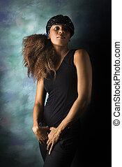 Hip woman portrait.